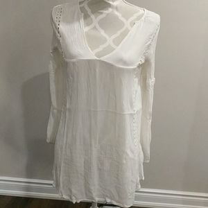 Rokoko sheer white blouse with crochet details